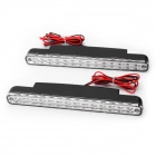 1.7W 84~110lm 6000K 28-LED White Light Car Fog Lamps - Silver + Black
