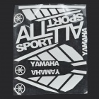 Full Motorcycle Reflective Sticker Sheet - Silver