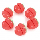 Cute Strawberry Style Hair Curler Balls - Red + Green (6 PCS)
