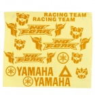 Full Motorcycle Reflective Sticker Sheet - Golden