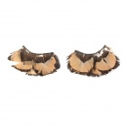 Decoration Feather False Eyelashes for Beauty Makeup - Brown + Coffee (Pair)