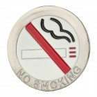3D Cool No Smoking Pattern Aluminum Alloy Car Sticker - Silver