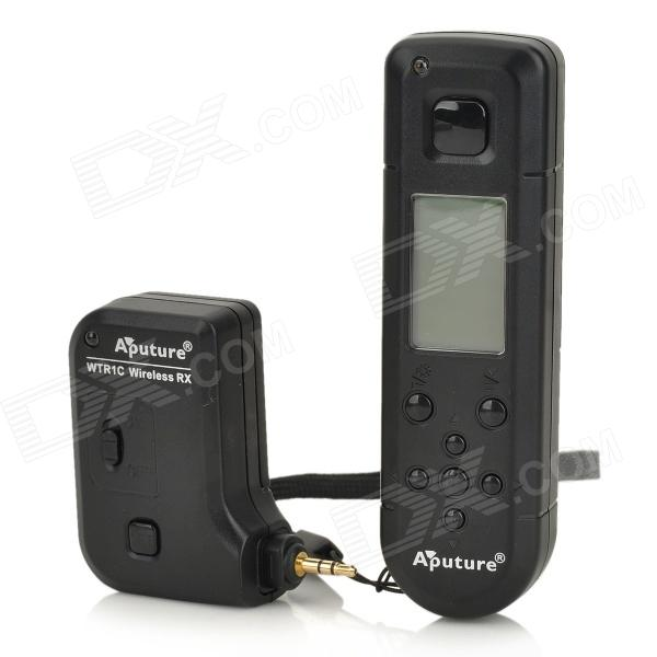 AP-WTR1C 1.2 LCD FSK 2.4GHz Wireless Timer Shutter Release Remote Control for Canon - Black viltrox mc c1 1 2 lcd digital timer remote controller for canon 1000d 60d 500d 2 x aaa