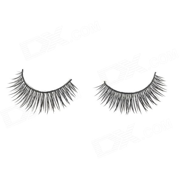 CF-15 Black False Eyelashes for Beauty Makeup (Pair)