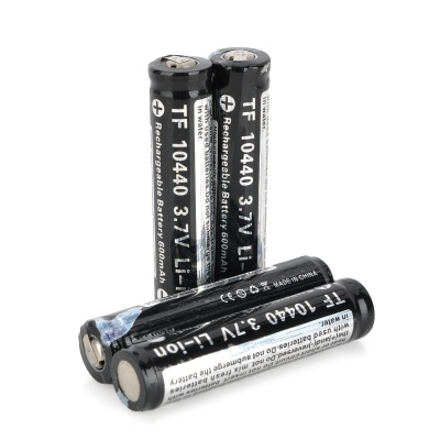TrustFire 10440 600mAh 3.7V Rechargeable Li-ion Battery - Black (4 PCS)