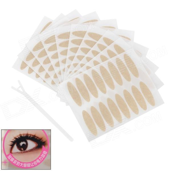 Cosmetic Double Eyelid Sticker / Eyeliner Sticker Paper - Flesh Color (10 x 16 Pairs)