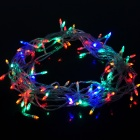 6W 100-LED 8-Mode Multicolored Light Strip - White (10m / EU Plug)