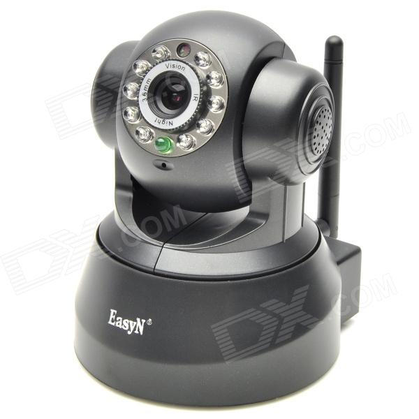 EasyN CMOS 300KP Wireless Antenna IP Network Camera w/ 10-LED Nigh Light Vision - Black