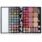 Professional 40-Eyeshadow + 20-Lipstick + 12-Blush Cosmetic Kit w/ Brushes / Mirror - Black