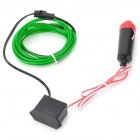 Car Cigarette Lighter Powered Flexible Neon Light Glow EL Wire w/ Drive - Green (DC 12V / 2m)