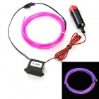 Car Cigarette Lighter Powered Flexible Neon Light Glow EL Wire w/ Drive - Purple(DC 12V / 2m)