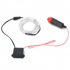 Car Cigarette Lighter Powered Flexible Neon Light Glow EL Wire w/ Drive - Transparent (DC 12V / 2m)