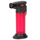 Windproof Flame Adjustable Gas Lighter w/ Stand - Deep Red + Black