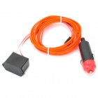 Car Cigarette Lighter Powered Flexible Neon Light Glow EL Wire w/ Drive - Red (DC 12V / 2m)
