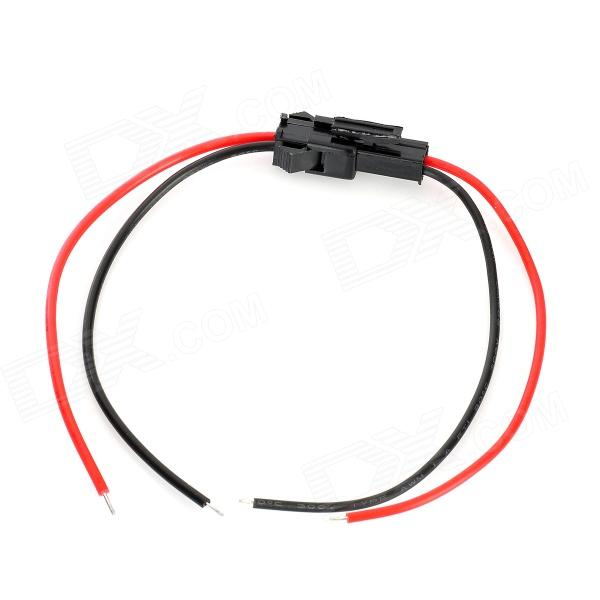 2 Pin LED Coupler Strip Wire for Electric DIY - Black + Red (20cm ...