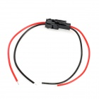 2 Pin LED Coupler Strip Wire for Electric DIY - Black + Red (20cm)