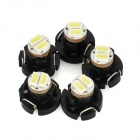 T3 0.4W 16lm 6500K 2-SMD 3014 LED White Light Car Instrument Lamp Bulb (5 PCS)