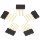 2.5mm Pitch 6-Pin Male to Female Pin Headers for Arduino (5 PCS)