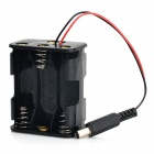 6 x AA Batteries Holder Case w/ Power Plug for Arduino (Works with Official Arduino Boards)