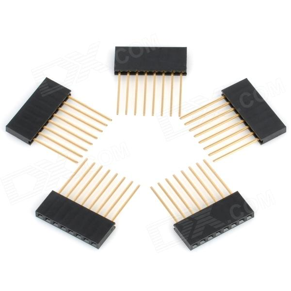 2.54mm Pitch 8-Pin Male to Female Pin Headers for Arduino (Works with Official Arduino Boards/5 PCS)
