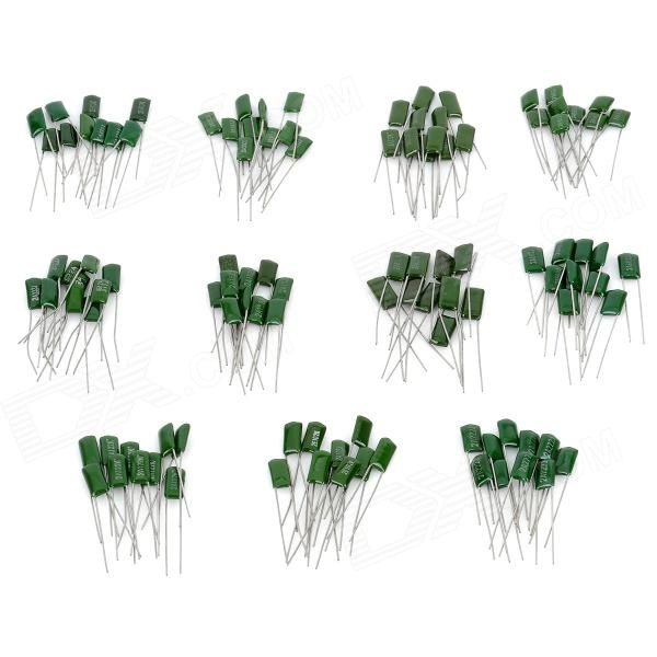 100V 1000~8200PF Polyester Film Capacitor Assortment Kit (11 x 10 PCS)  цены