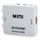 HDV-M615 Mini AV para HDMI 1080p Audio Video Converter w / RCA - Branco (Plug EUA)