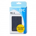 JJC Vatten Proof Plast CF / SD Memory Card Case - Svart + Blå