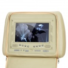 "AST7002H-MIS 7"" LCD Screen Car Headrest Monitor w/ Remote Controller / AV-IN - Khaki (2 PCS)"