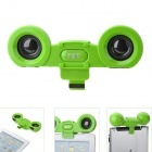 8403-1 Portable USB Powered Speaker w/ Clip for iPad - Green (DC 5V)