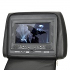 "AST7002H-MIS 7"" LCD Screen Car Headrest Monitor w/ Remote Controller / AV-IN - Black (2 PCS)"