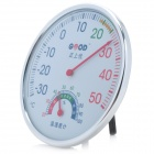Wall Mount Thermometer / Hygrometer - White + Silver