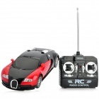1:24 Rechargeable 2-Channel Alloy R/C Racing Car Toy - Red + Black (4 x AA)