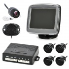"3.5"" LCD Car Vehicle Rearview Mirror Monitor Parking Sensor System / Radar Kit"