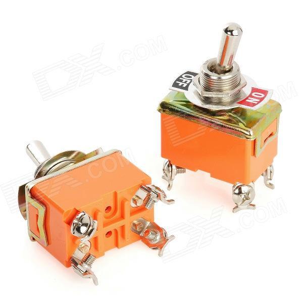 pin electrical power control on off toggle switches orange 4 pin electrical power control on off toggle switches orange silver 2 pcs