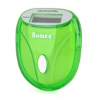 Portable 0.9&quot; LCD Clip-on Pedometer - Light Green (1 x AG13)