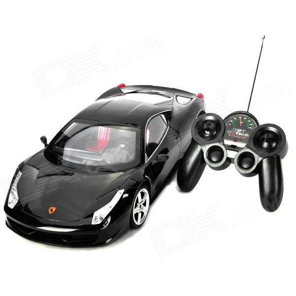 2048 Simulation 1:10 2-CH Car Model w/ Remote Controller - Black