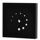 TP004 Glass Touch Panel Single Color LED Dimmer Controller - Black