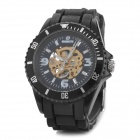 Stylish Sporty Stainless Steel Mechanical Wrist Watch - Black