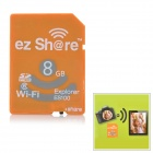 ez Share Wireless Transmission Wi-Fi SDHC Memory Card - Orange (8GB / Class 6)