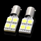 D&Z BBF904W BA9S 0.8W 92lm 6500K 4-SMD 5050 LED White Light Car Lamps - Yellow (2 PCS)