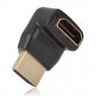 Right-Angle HDMI Male to Female Adapter - Black