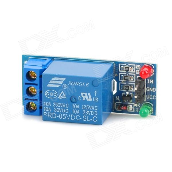 1 Channel 5V Low Level Trigger Relay Module for Arduino (Works with Official Arduino Boards)Relays <br>Form  ColorBlueMaterial:Packing List<br>
