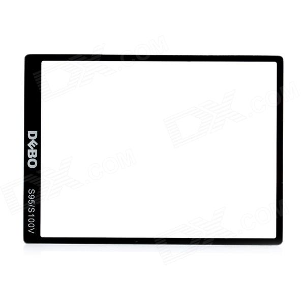 DEBO Optical Glass LCD Screen Protector for Canon S95 / S100V - Black + Transparent