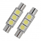 0.4W 3-SMD 5050 LED White Light Car Sun Visor Lamp (2 PCS)
