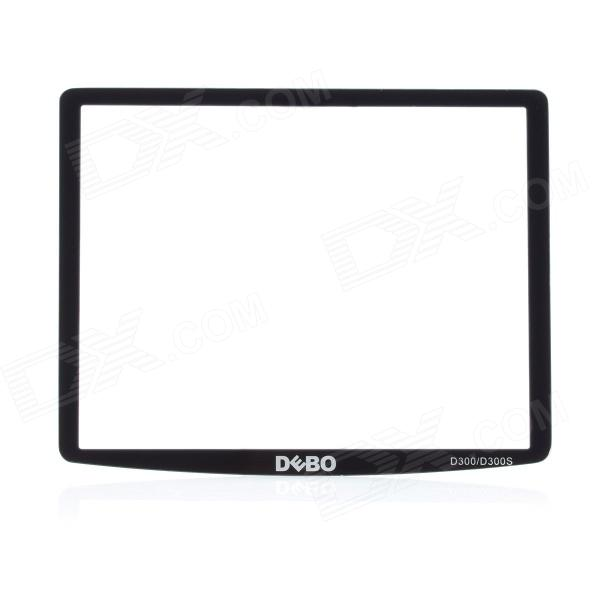 DEBO Optical Glass LCD Screen Protector for Nikon D300 / D300S - Black + Transparent