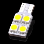 D&Z F904W T10 0.8W 92lm 6500K 4-SMD 5050 LED White Light Car Lamp - Yellow
