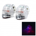Waterproof Anti-Seismic Wind Powered Red Blue LED Light  Lamps - Transparent ( 2 PCS)