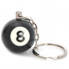 Terminator Snooker N0.8 Ball Keychain - Black