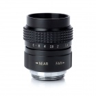 25mm F1.4 C горе CCTV Lens ж / Macro Ring / C-M4 / 3 Mount Adapter - Black