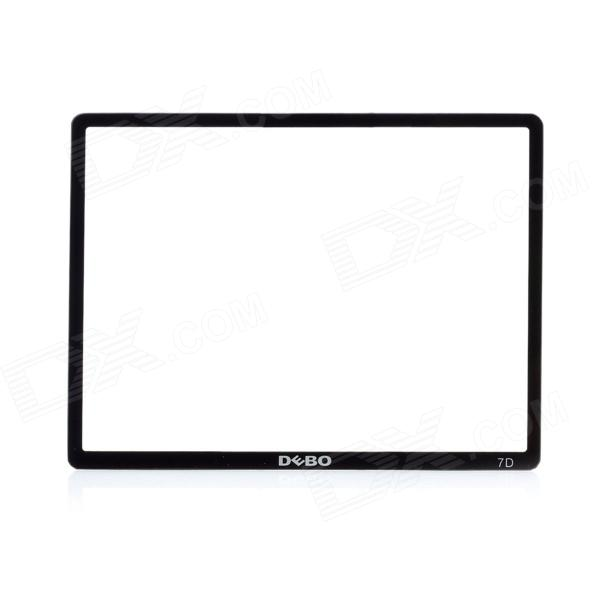 DEBO Optical Glass LCD Screen Protector for Canon 7D - Black + Transparent